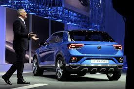 volkswagen t roc concept suv debuts at geneva motor show