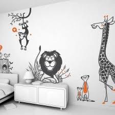 stickers geant chambre fille stickers enfants savane safari jungle animaux bébé