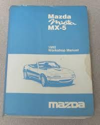1992 mazda miata mx 5 service workshop manual with wiring diagrams