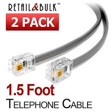 four wire phone connectors rj11 amazon com
