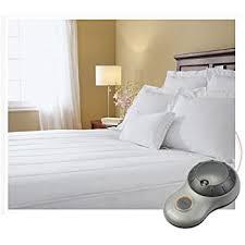 amazon com sunbeam waterproof heated mattress pad full msu6sfs