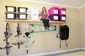 diy overhead wall mounted garage storage organization after