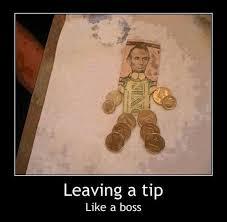 Boss Meme - meme leaving a tip like a boss