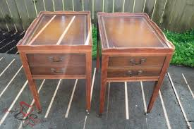 leather top side table how to salvage a vintage leather top side table designed decor