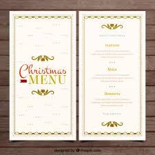 christmas elegant menu vector premium download