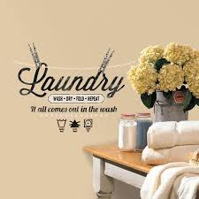 quote home country amazon com roommates rmk2743scs laundry quote peel and stick wall