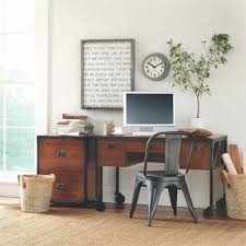 Home Decorators Colection Home Decorators Collection Pine And Black Desk 0559900210 The