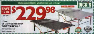 black friday ping pong table sale black friday deal stiga st3100 indoor table tennis table