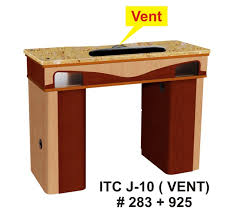manicure table with vent nail table pedi spas furniture and part at itc inc