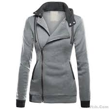 warm womens sweaters leisure autumn s splicing turn collar coathoodies