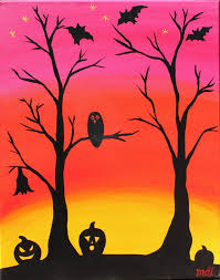 halloween paintings ideas pictures of halloween paintings spooky night at the softail