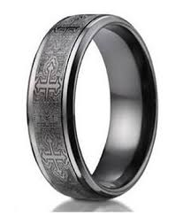 black mens wedding ring mens black titanium ring crosses comfort fit