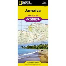 Jamaica Map Jamaica Adventure Map National Geographic Store