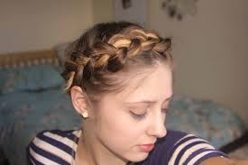 short fine hair tutorial easy crown braid plait youtube
