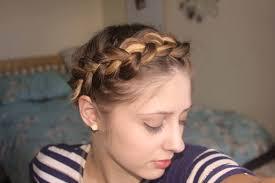 short fine hair tutorial easy crown braid plait youtube