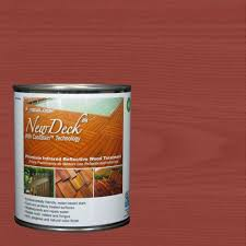 newdeck 1 qt premium infrared reflective redwood exterior and