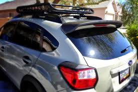 subaru crosstrek custom subaru crosstrek rear spoiler installation youtube