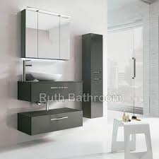 Thin Bathroom Cabinet by White Wooden Slim Bathroom Cabinet With Drawers For Storage In