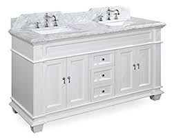 Bathroom Vanities With Marble Tops Elizabeth 60 Inch Double Bathroom Vanity Carrara White Includes