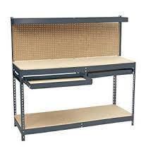 edsal mrwb 6 heavy duty 16 gauge steel workbench 72