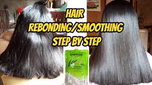 hair blessing rebond review hair rebonding smoothing step by step easy to learn 2 youtube