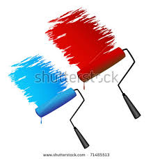 paint roller silhouette stock images royalty free images