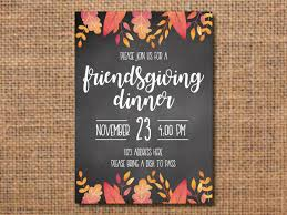 friendsgiving invitation thanksgiving invitation friendsgiving