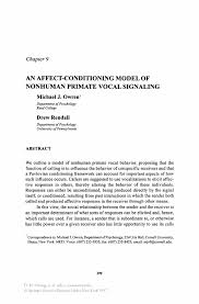Cover Letter Waitress An Affect Conditioning Model Of Nonhuman Primate Vocal Signaling