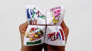 nintendo paper origami fortune teller play nintendo