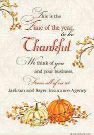 thankful time fall business cards autumn corporate blessings harvest