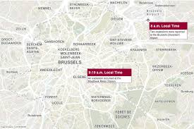 map brussels brussels terror attacks timeline map locations heavy