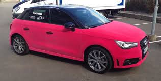pink audi r8 audi a1 wrapped in pink velvet video autoevolution