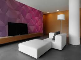 Living Room Beautiful Pink D Wallpaper Decorating Simple Living - Beautiful wall designs for living room