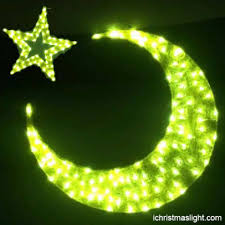 acrylic moon and gold led eid lights ramadan lights
