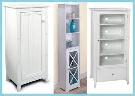 White Bathroom Storage Cabinet Tall Narrow Storage Cabinets With Doors U2013 Home Improvement 2017