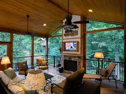 covered patio with fireplace popular interior best a rustic covered porch with a fireplace and tv
