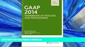 read online gaap handbook of policies and procedures w cd rom