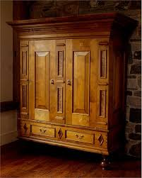 Tall Armoire Furniture Custom Tv Media Console Armoire From Vermont Wood Studios