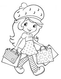 fun strawberry shortcake coloring pages girls 12785