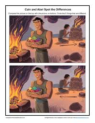 cain and abel spot the differences children u0027s bible activities