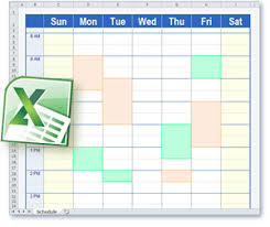 Study Schedule Template Excel Schedule Templates In Excel Format