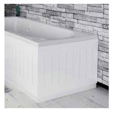 Tongue And Groove In Bathrooms Tongue U0026 Groove Bath End Panel White 750mm