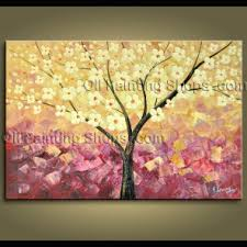 cubism flower painting primitive abstract floral painting handmade wall kitchen