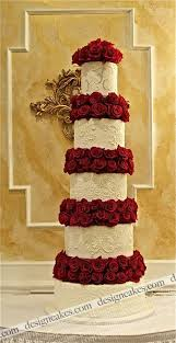 stacking question for 5 tier 18 15 12 9 6 cake with real roses