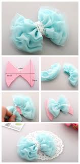 tulle hair bows craftionary