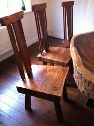 tree cross section table bespoke acacia dining table cross section of tree and tall chairs