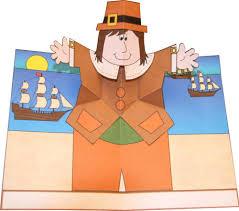pop up pilgrim card