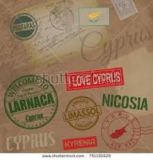 grunge rubber stamp name map cyprus stock vector 153164882