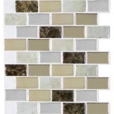smart tiles 9 70 in x 10 95 in peel and stick sand mosaic