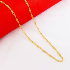 new arrival fashion 24k gp gold plated mens women cheap real gold plated chains find real gold plated chains deals